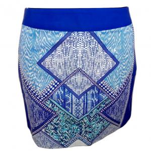 Naujas mėlynas margas trumpas sijonas H&M, dydis 40