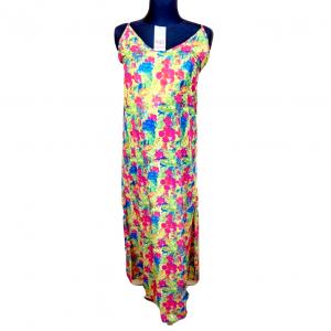 Nauja ilga žalia marga gėlėta su petnešėlėm, suknelė PHAX, dydis 34