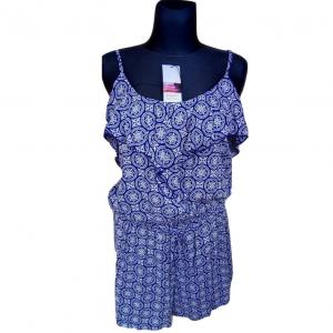 Mėlyna marga su petnešėlėmis suknelė - šortai PAPAYA, dydis 40