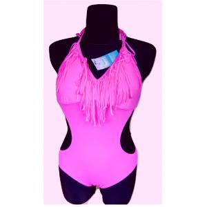 Naujas ružavas bendras maudymosi kostiumėlis F&F, dydis 10