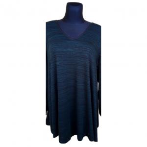 Moteriškas tamsus žalias ilgomis rankovėmis megztinis YOURS, 50-52 dydis