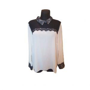 Moteriški balti puošnūs marškineliai, TU, 18 dydis