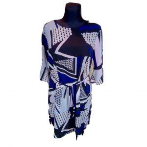 Tamsi marga laisva suknelė, F&F, 50 dydis
