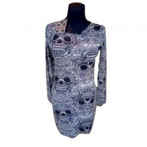 Juodai pilka aptempta suknelė, BOOHOO, 40 dydis (NAUJA)
