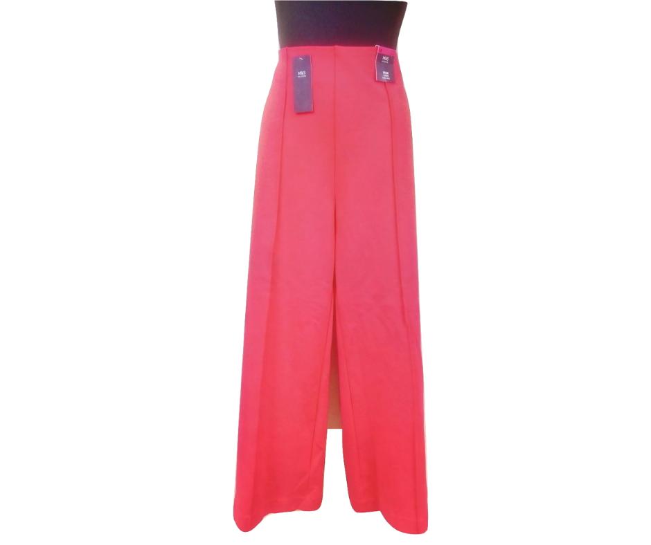 Moteriškos raudonos kelnės M&S, dydis 46