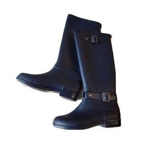 Ilgi guminiai tamsiai mėlyni moteriški botai, 39 dydis