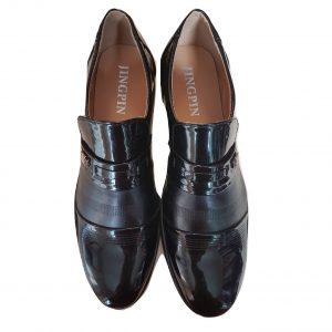 Juodi lakiniai klasikiniai vyriški batai, Jingpin, 44 dydis