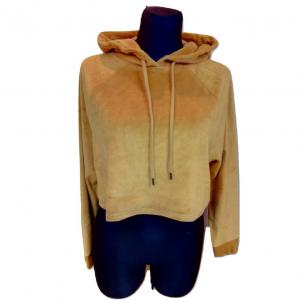 Geltonas ilgomis rankovėmis su kapišonu džemperis BDG, dydis M