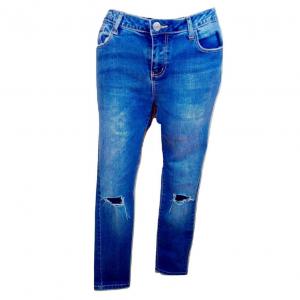 Moteriški plėšyti mėlyni džinsai DENIM CO, dydis 38