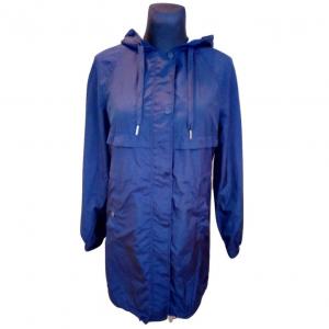 Moteriškas tamsiai mėlynas ilgas sukapišonu bliuzonas H&M, dydis 34