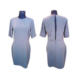 Pilka trumpomis rankovėmis suknelė H&M, dydis 44
