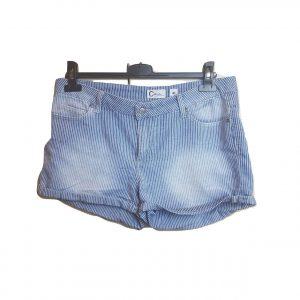 Džinsiniai moteriški dryžuoti trumpi šortukai, CUBUS, 40 dydis