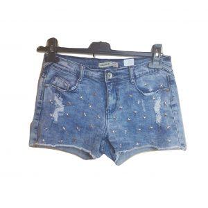 Džinsiniai šortukai su metalinėmis žvaigždutėmis, LOLO JEANS, 38 dydis