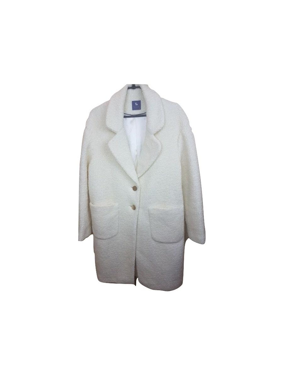 Ilgas šiltas baltas paltukas, TU, 40 dydis