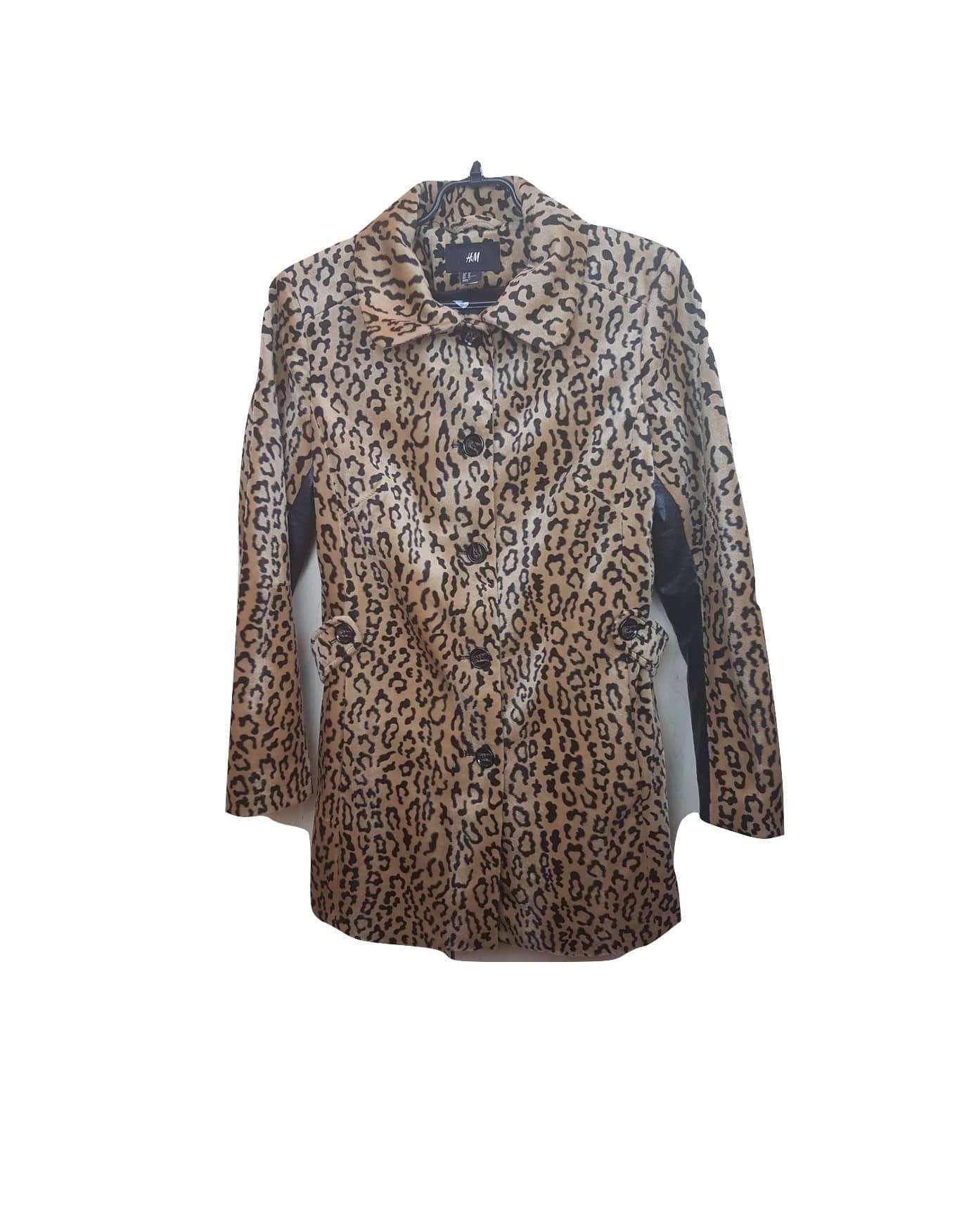 Moteriškas rudeninis tigro rašto paltukas, H&M, 40 dydis